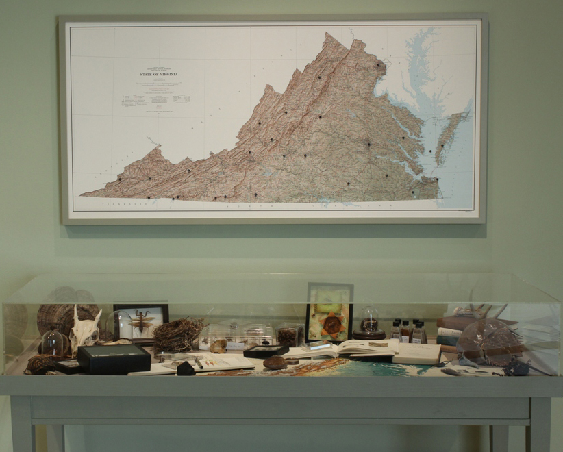 c-taubman-museum-view-of-va-map-and-specimen-table
